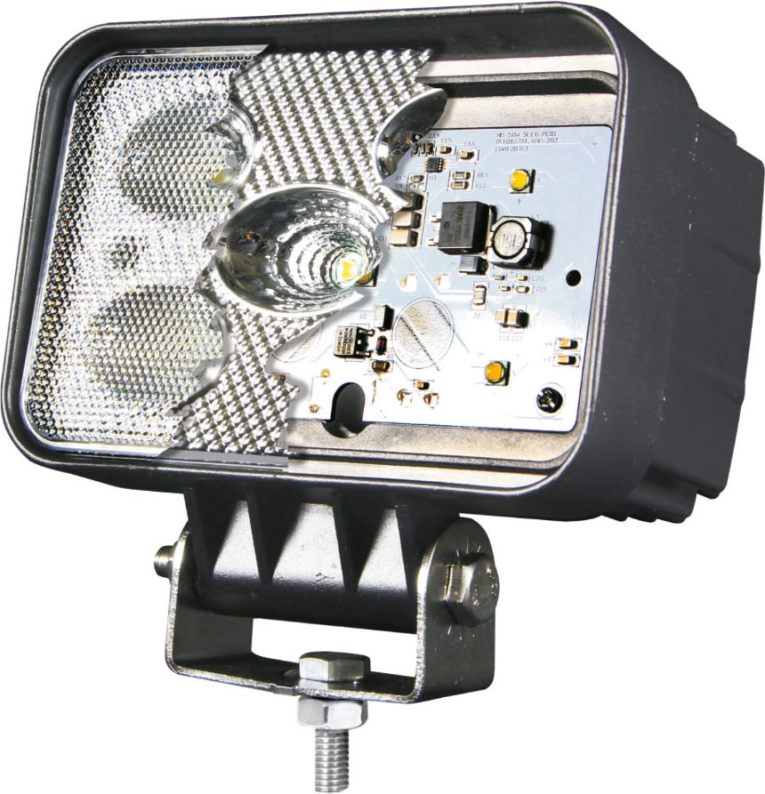 Cut away of an LED light Masai LED and HID vehicle lights