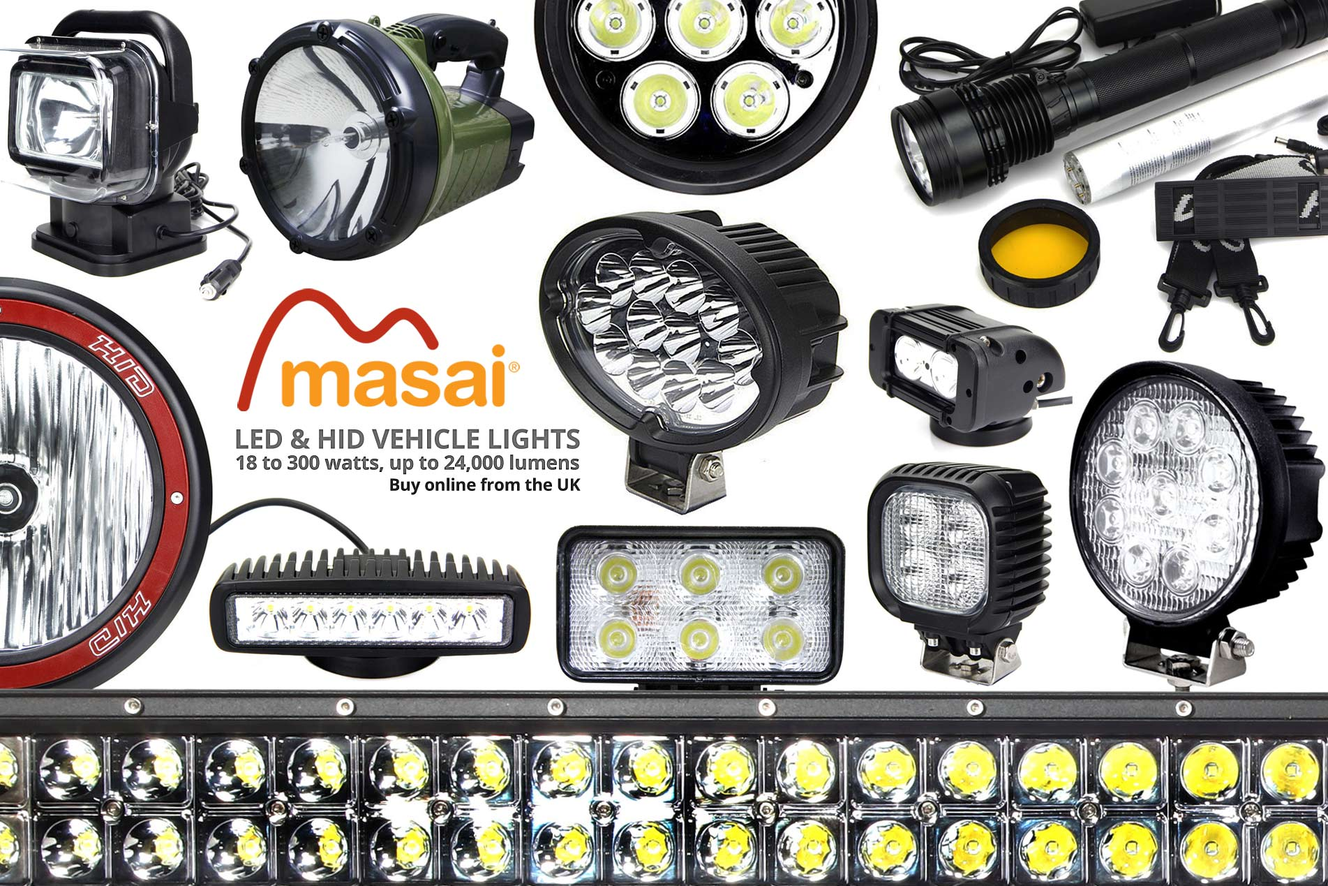 LED and HID vehicle lights
